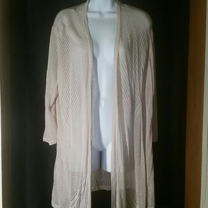 Charter club 3x woman's open front cardigan